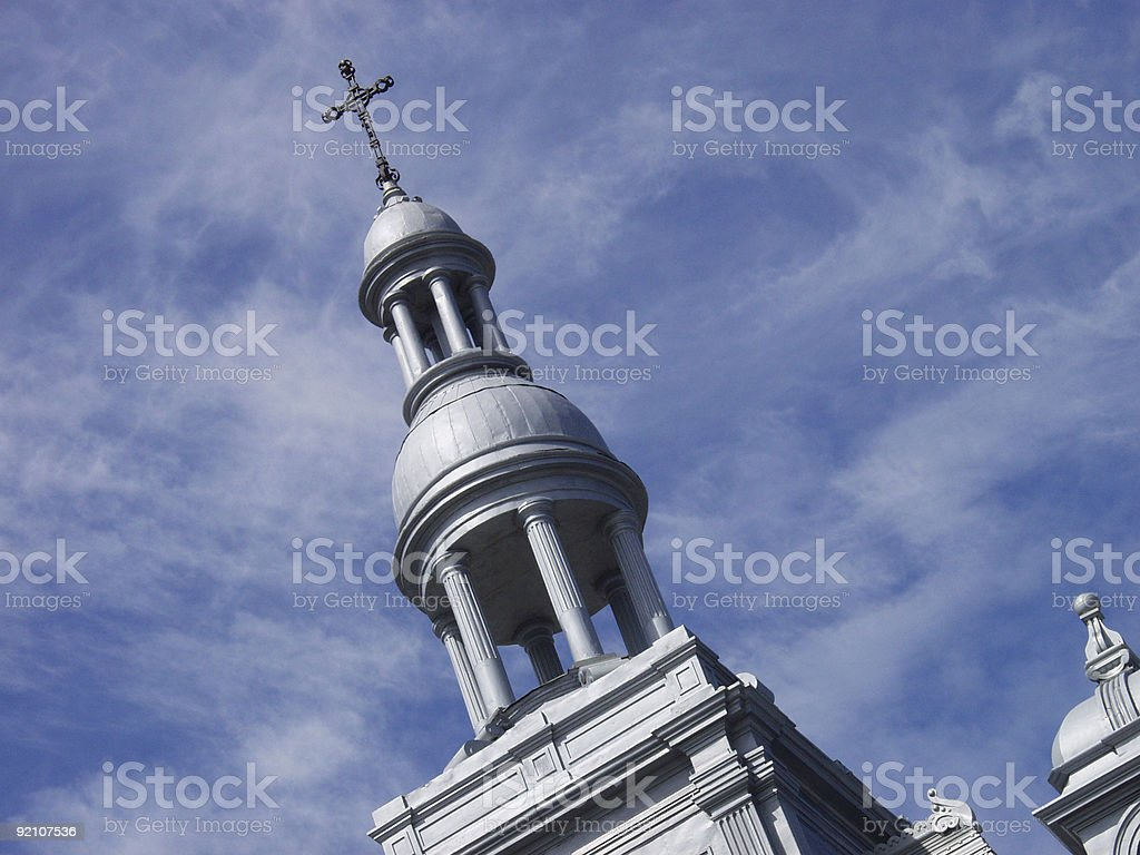 Cupola with Cross royalty-free stock photo