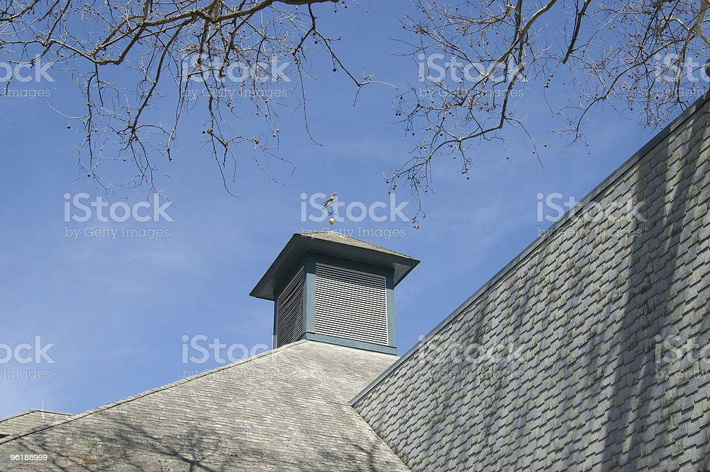 Cupola with Weathervane on Kentucky Barn stock photo