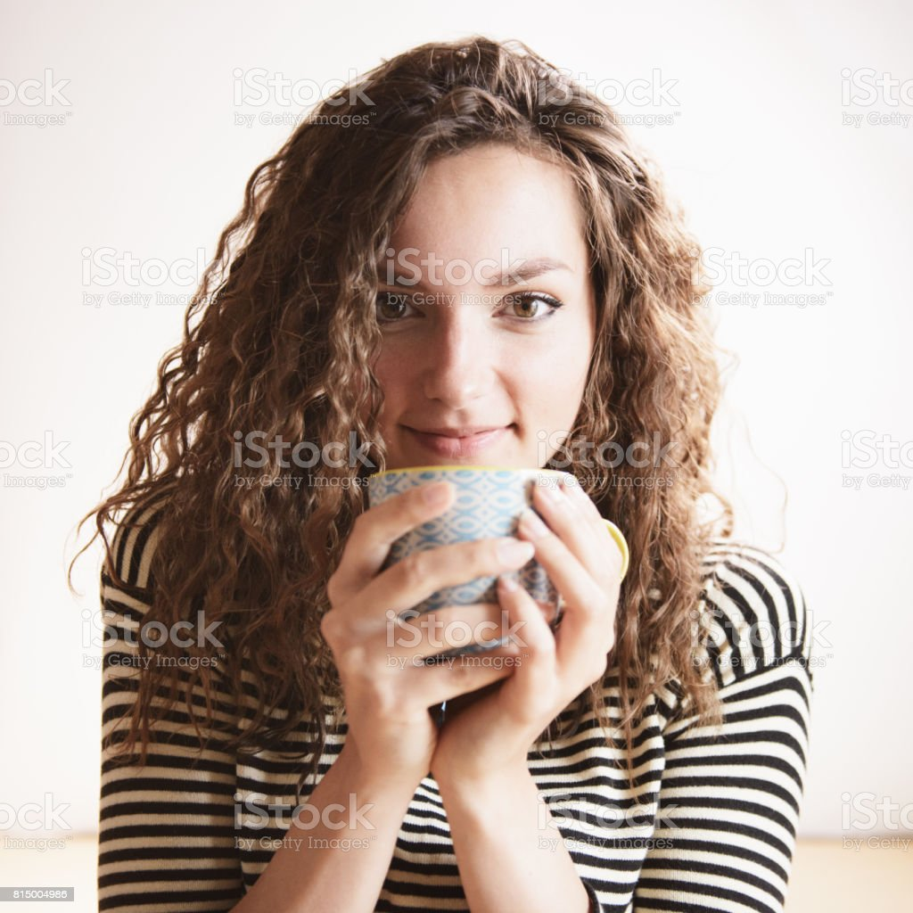 Cupping Hot Drink in Hands royalty-free stock photo
