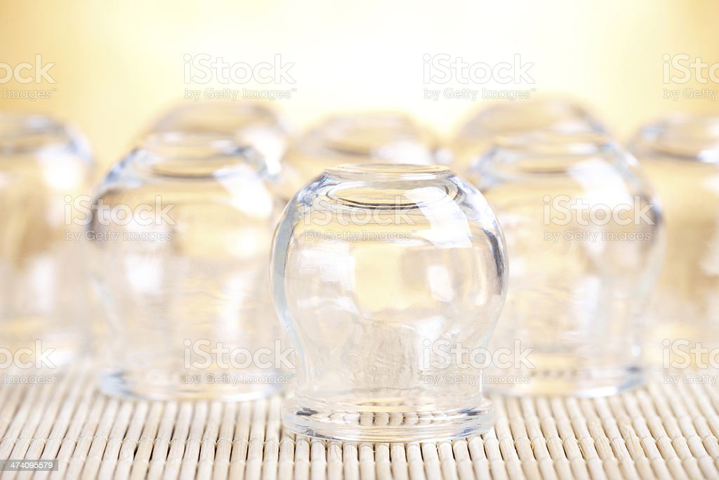 Cupping-glass stock photo
