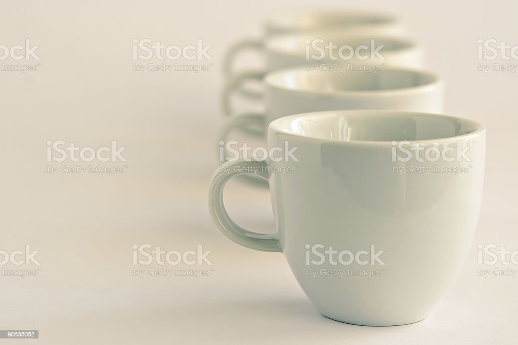 Cups background royalty-free stock photo