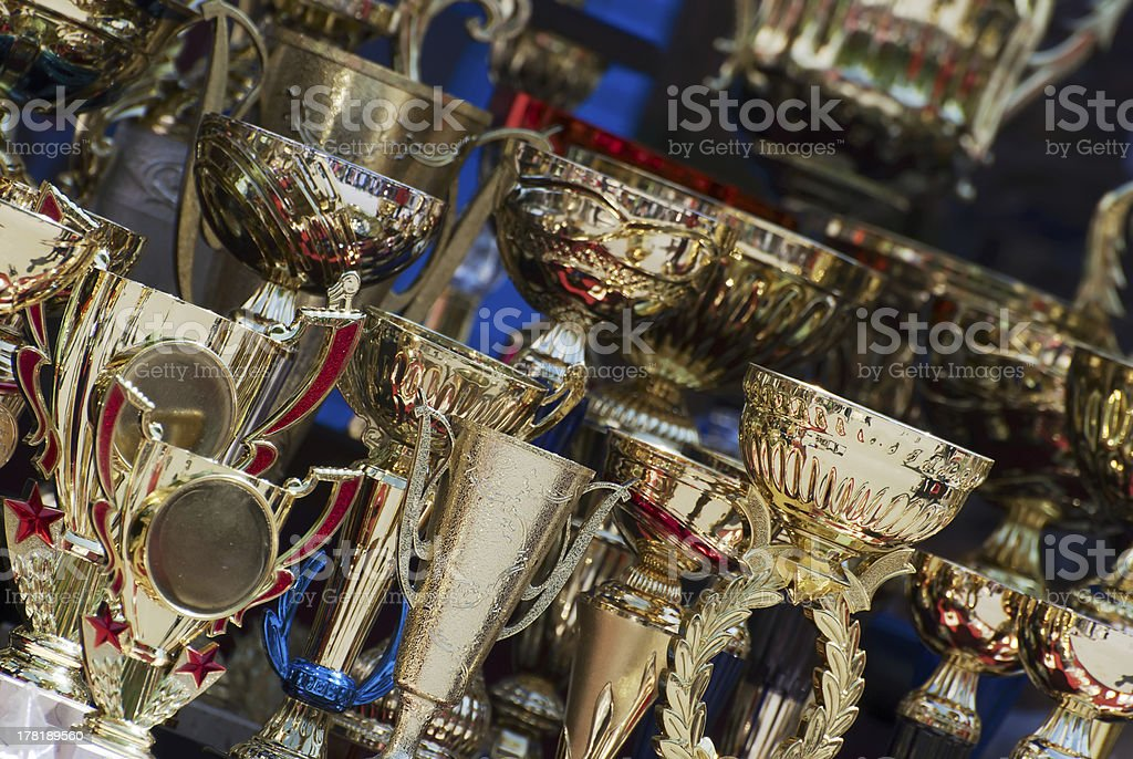Cups for winners royalty-free stock photo
