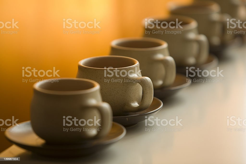 cups in row stock photo