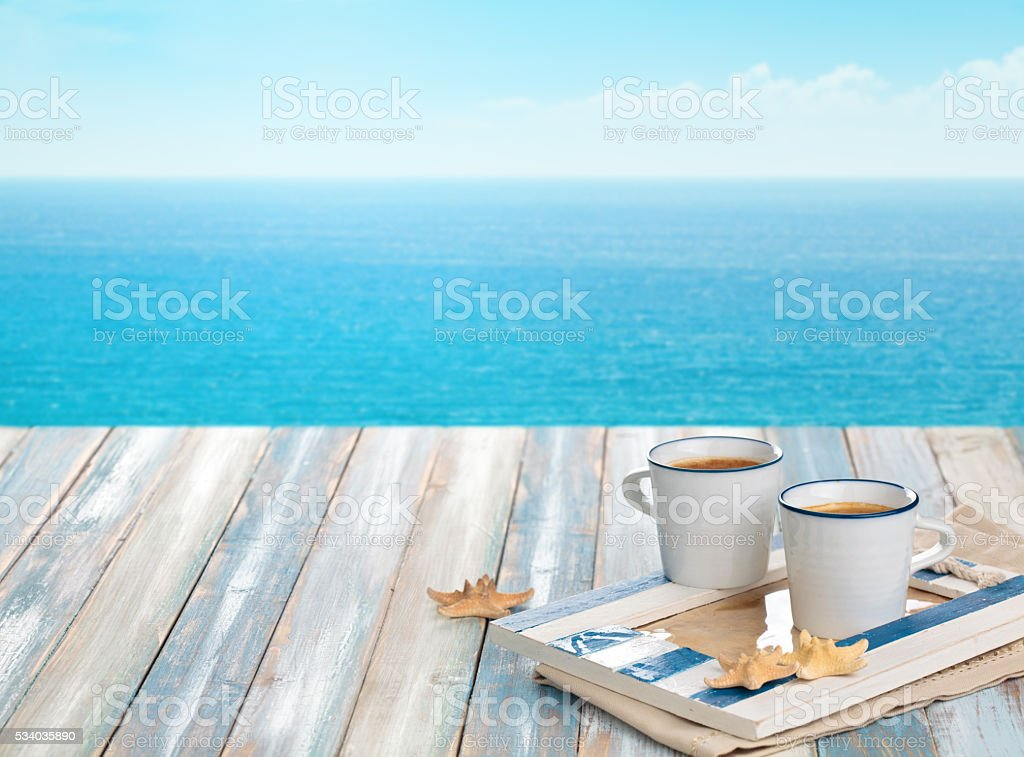 Cups of coffee. stock photo