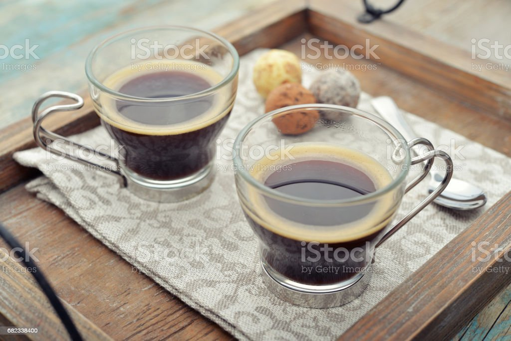 Cups of coffee royalty free stockfoto