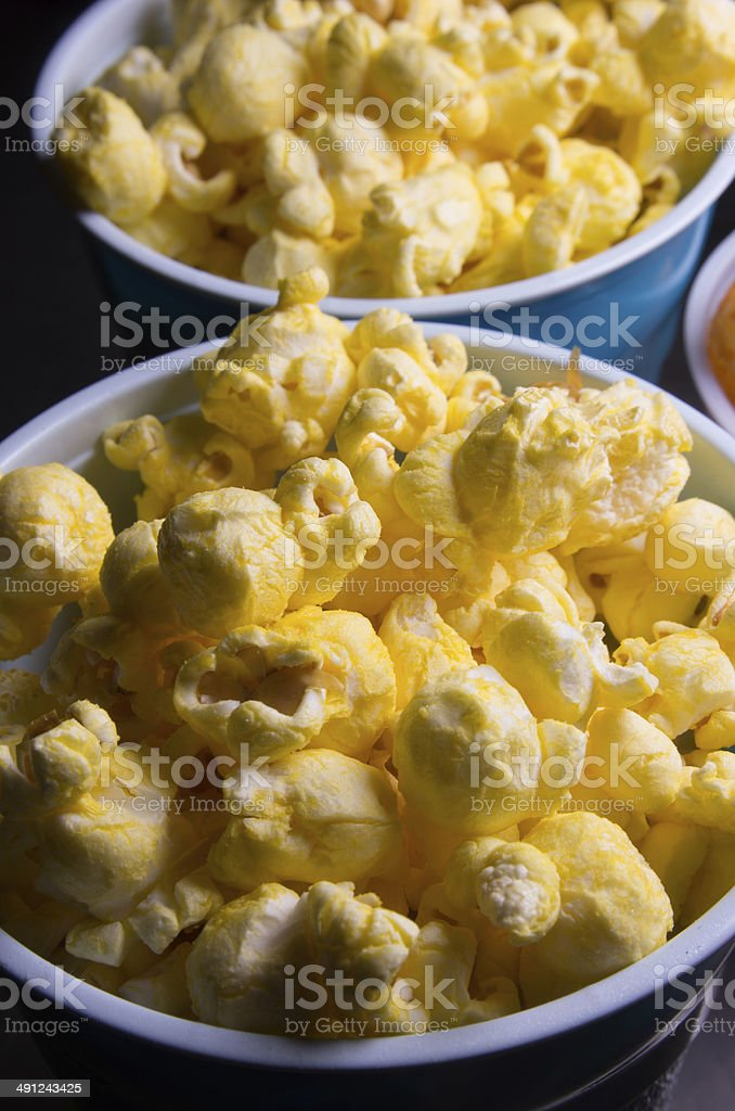 Cups of popcorn royalty-free stock photo