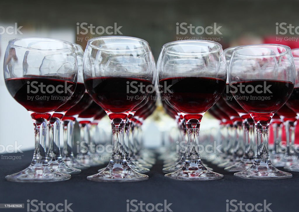 Cups Of Wine royalty-free stock photo
