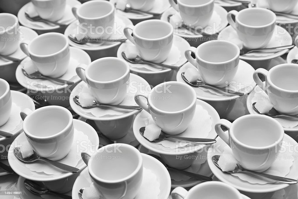 Cups, Saucers And Spoons royalty-free stock photo