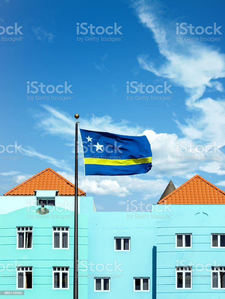Curacao Flag by Blue Plaster royalty-free stock photo