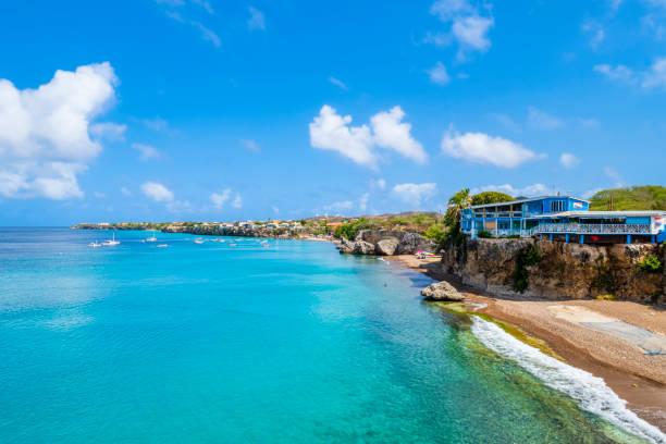 Curacao, Westpunt Bay stock photo
