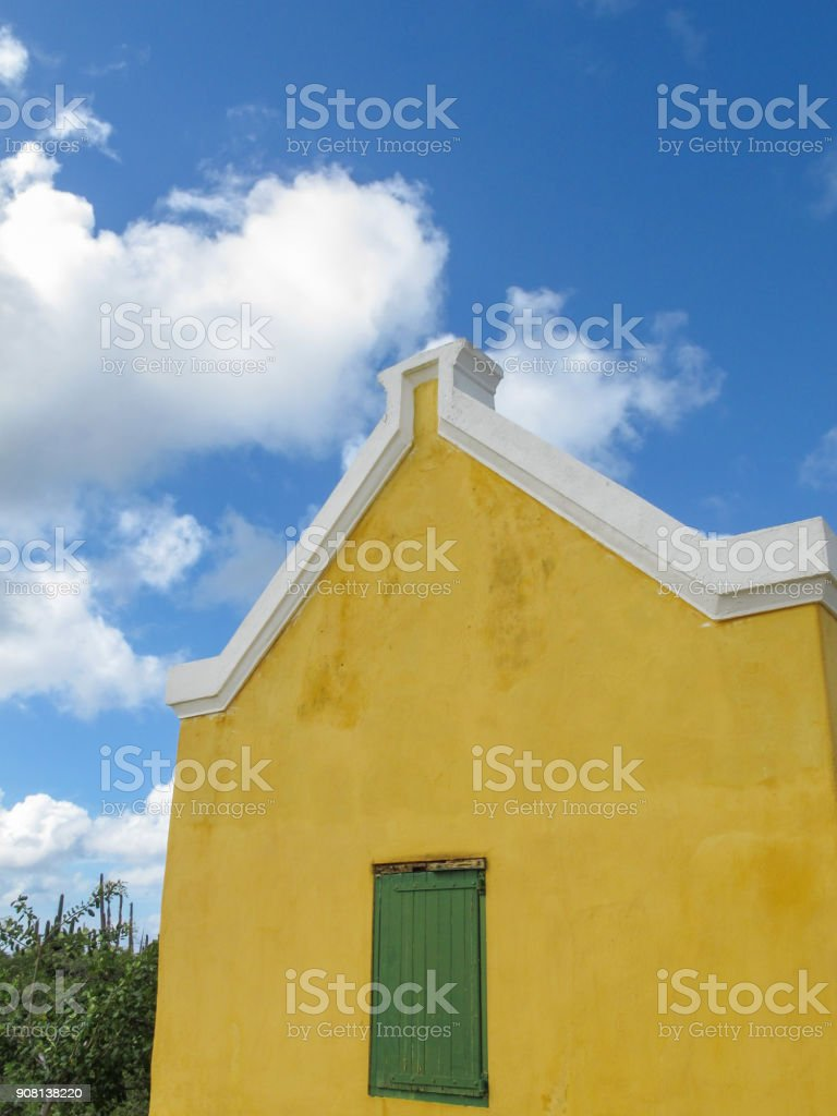 Colorful colonial architecture on the Dutch island Curacao.