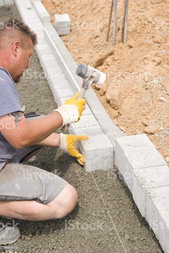 Curb Laying royalty-free stock photo