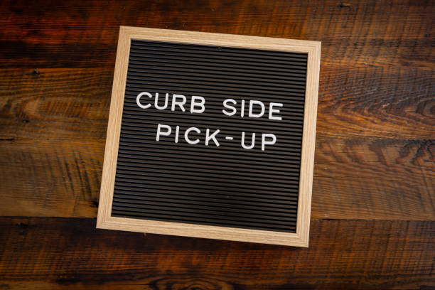Curb Side Pick Up Centered stock photo