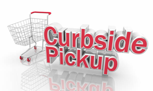 Curbside Pickup Shopping Cart Service Words 3d Illustration Curbside Pickup Shopping Cart Service Words 3d Illustration curbsidepickup stock pictures, royalty-free photos & images