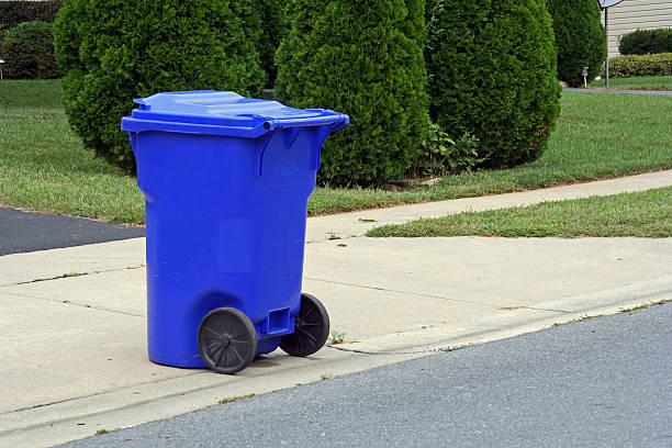 curbside recycling - recycling bin stock photos and pictures