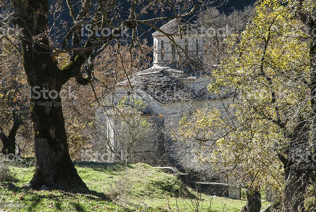 Curch in Greece stock photo