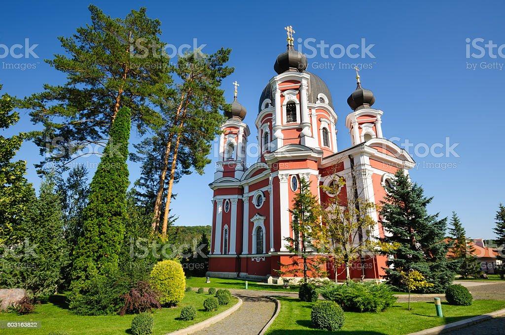 Curchi Orthodox Christian Monastery, Moldova stock photo