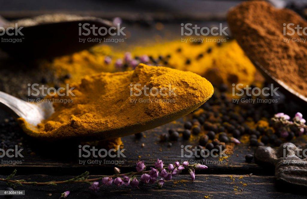 Curcume spice stock photo