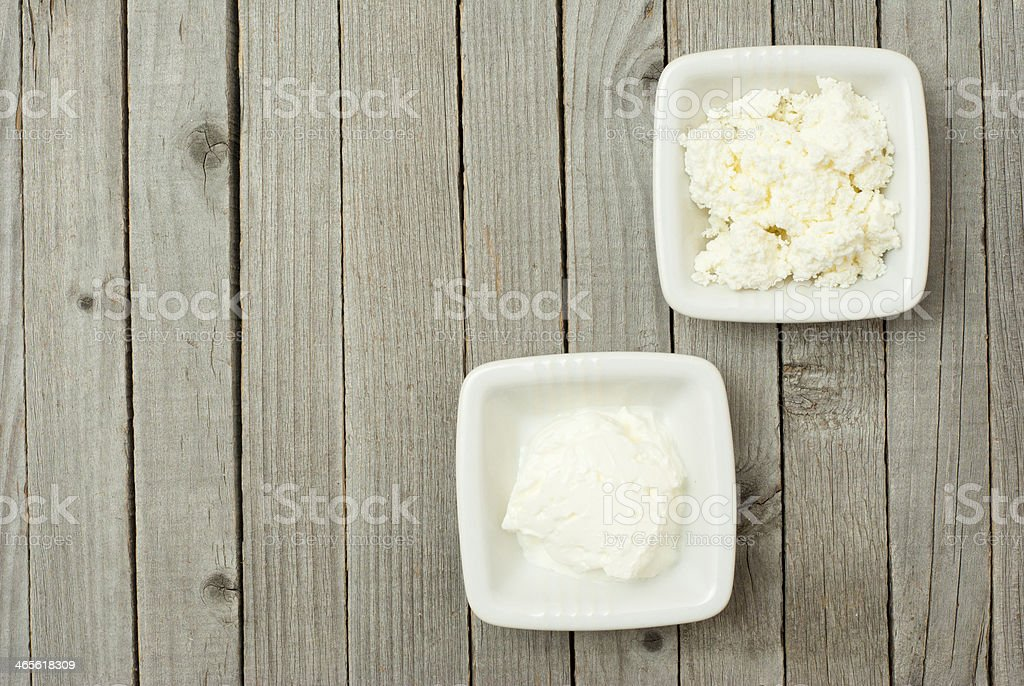 Curd cheese, creme fraiche royalty-free stock photo