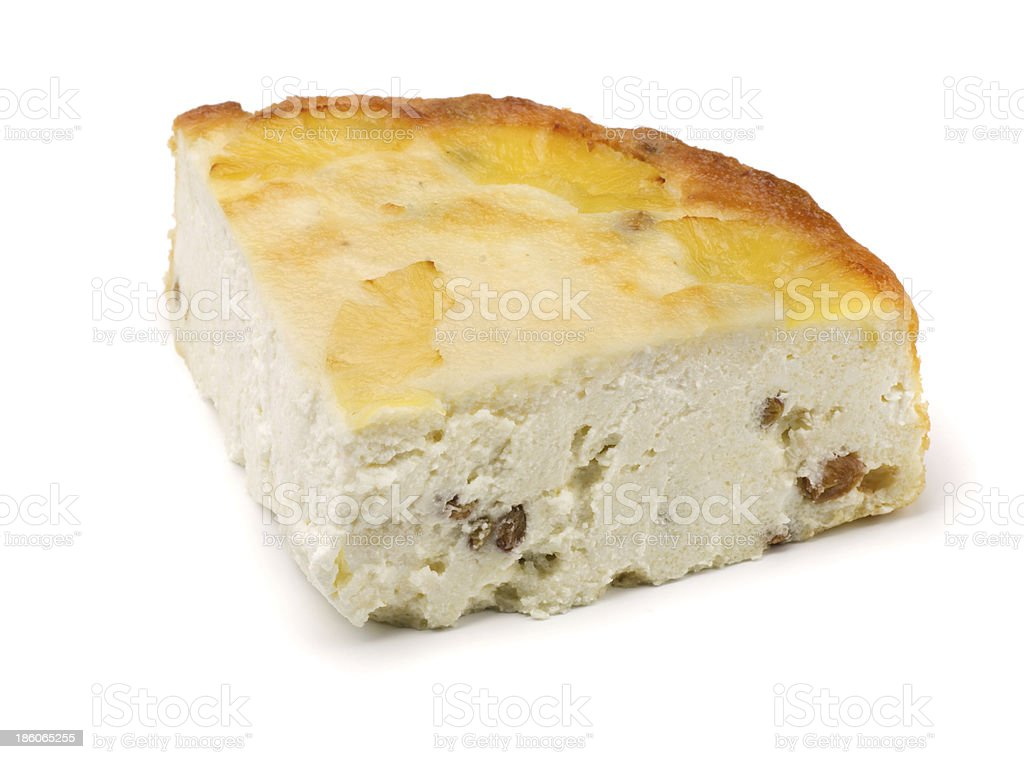Curd  pie royalty-free stock photo