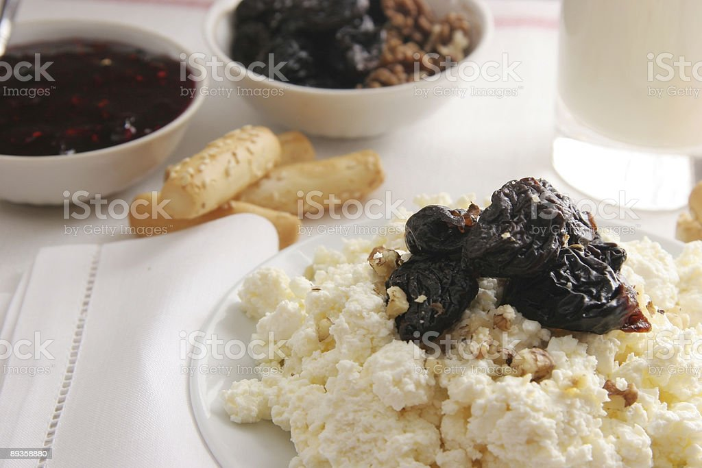 Curds for breakfast. royalty free stockfoto