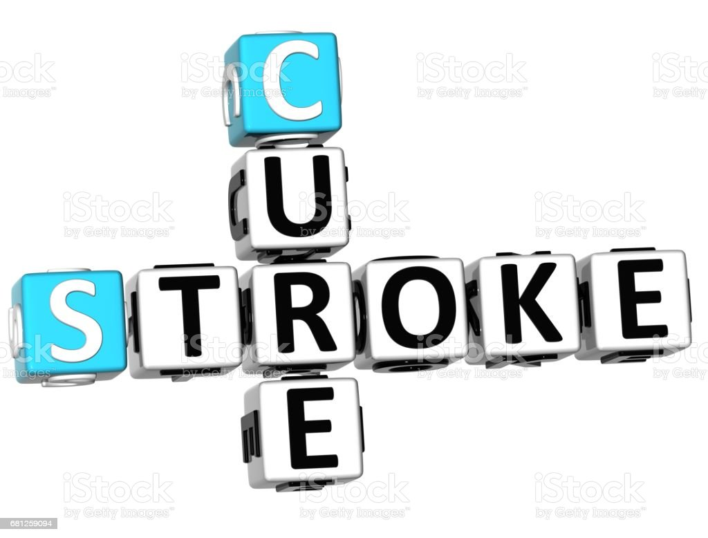 3D Cure Stroke Crossword royalty-free stock photo