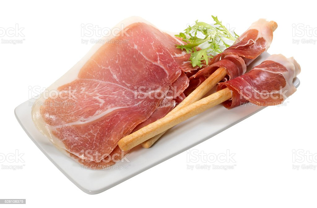 Cured Ham stock photo