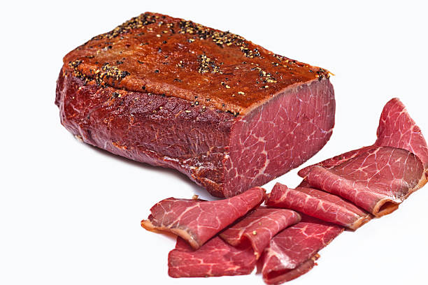 cured pastrami - pastrami stock pictures, royalty-free photos & images