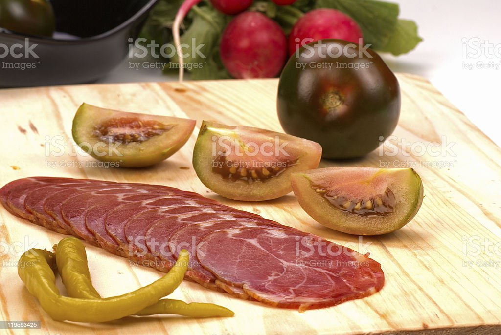 Cured pork loin royalty-free stock photo