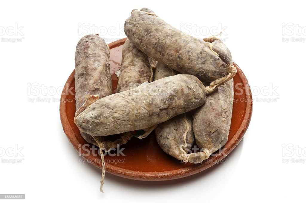 Cured Salami (sopresatta) stock photo