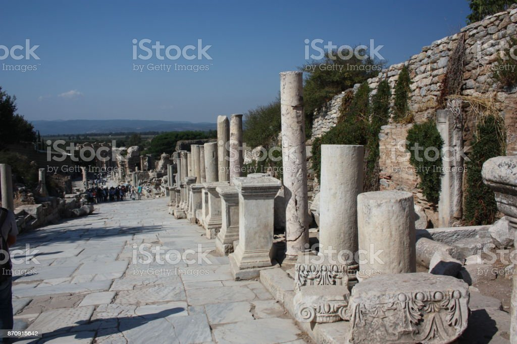 Curetes Street- Ephesos stock photo