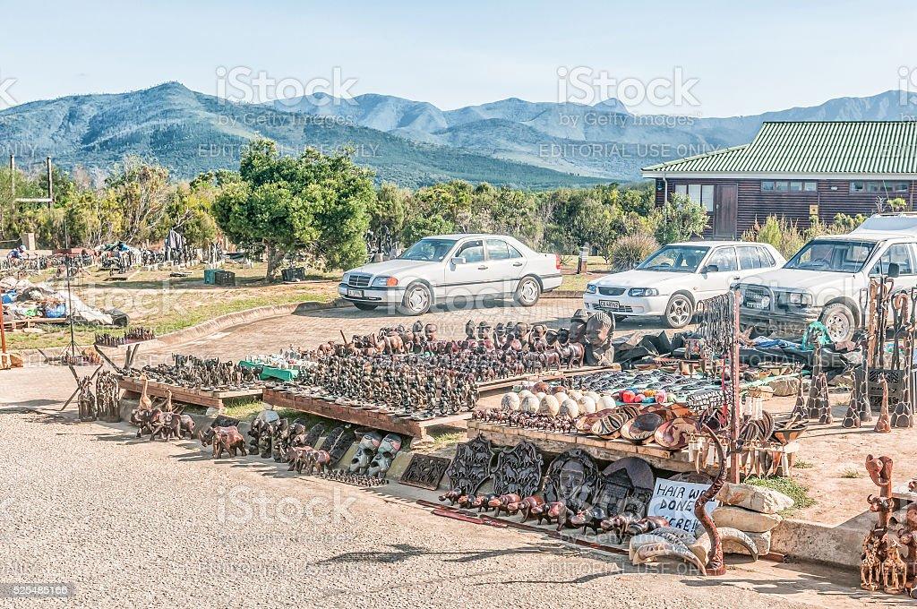 Curios for sale at Bloukrans Bridge stock photo