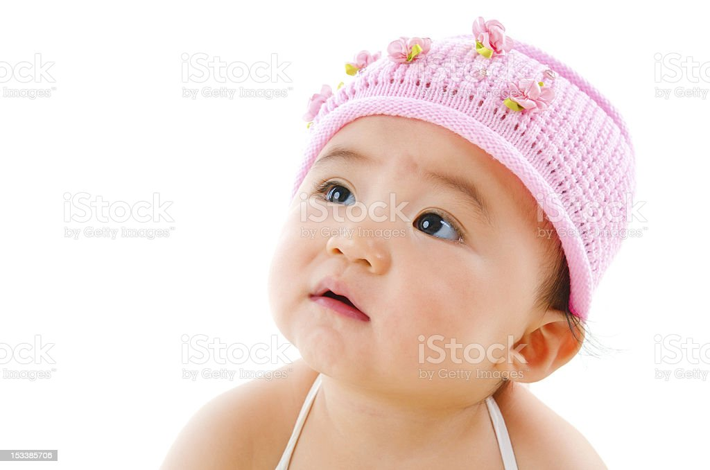 Curious Asian baby royalty-free stock photo