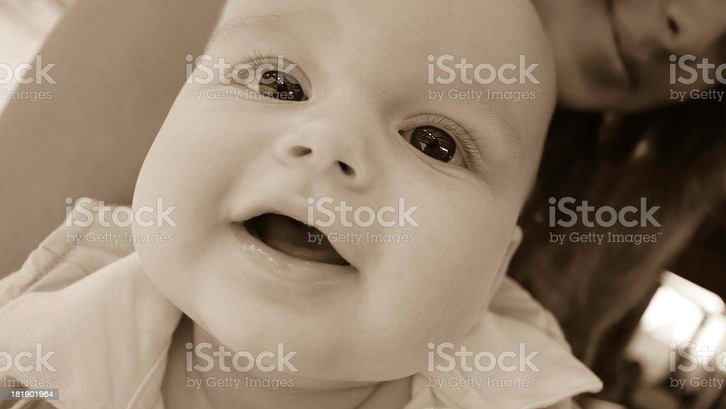 Curious baby boy stock photo