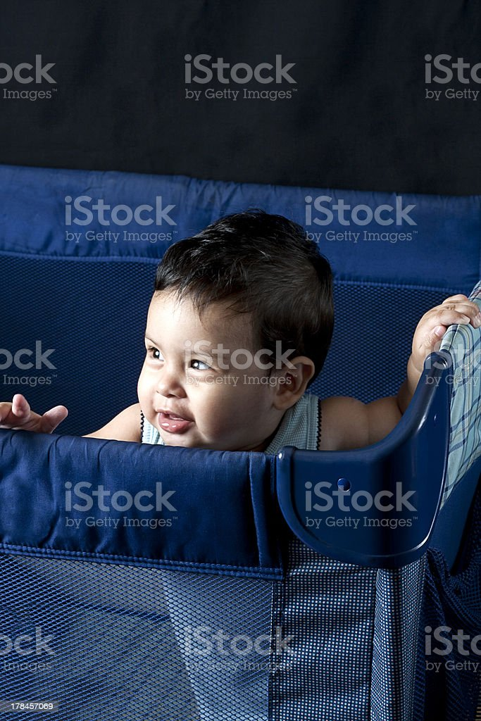 Curious baby looking royalty-free stock photo