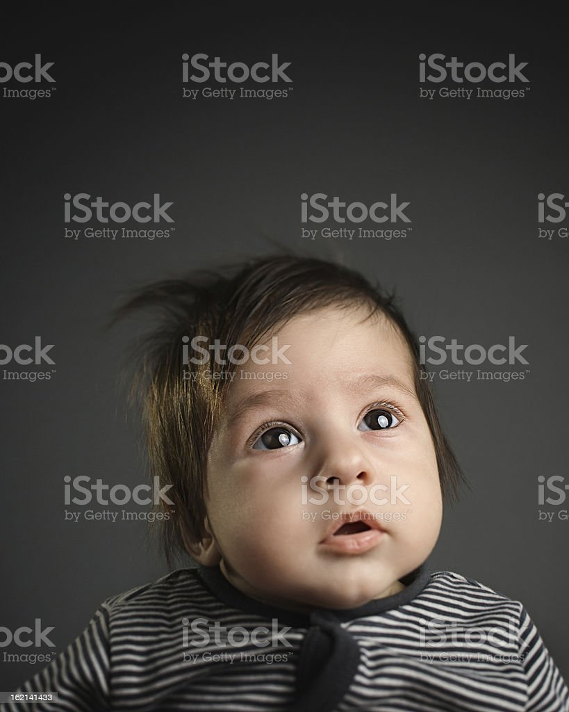 Curious baby royalty-free stock photo