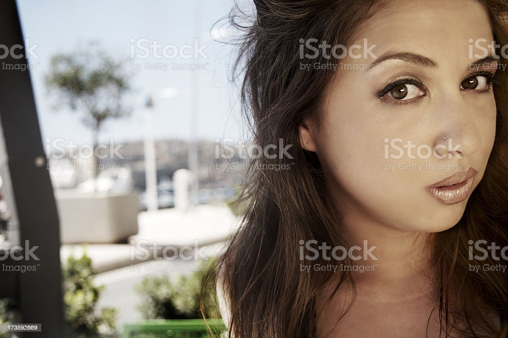 Curious Girl stock photo