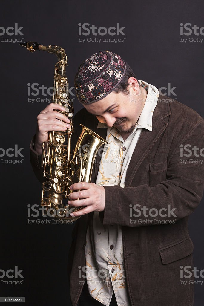 Curious jazz singer royalty-free stock photo