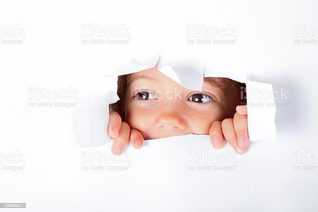 curious Little Girl stock photo