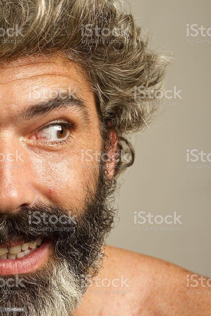 Curious man with beard royalty-free stock photo
