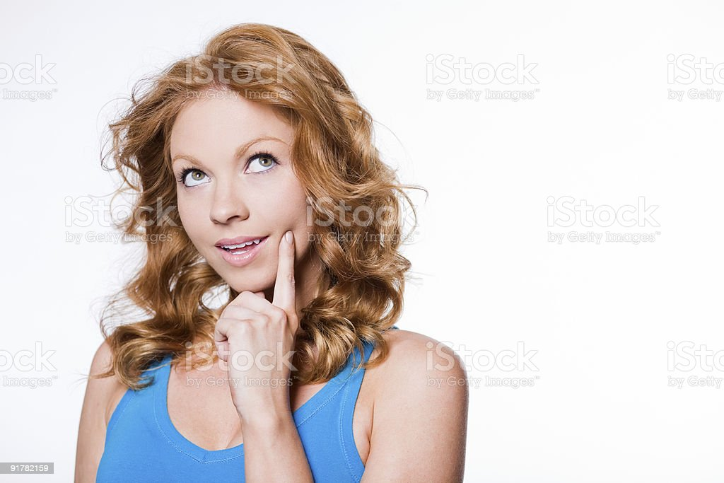 Curious Redhead royalty-free stock photo