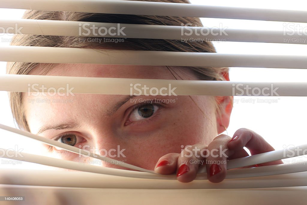 curious spy lady royalty-free stock photo