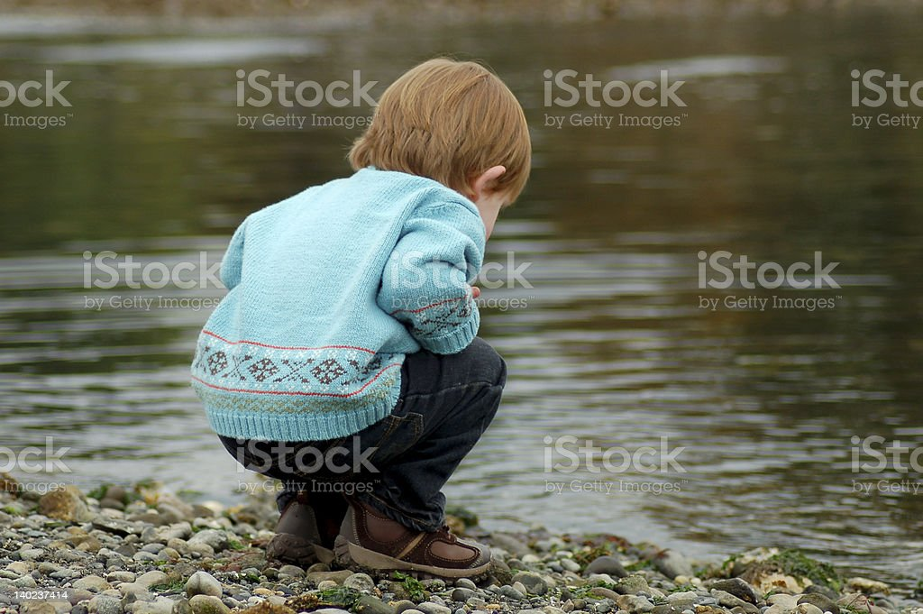 Curious Toddler royalty-free stock photo