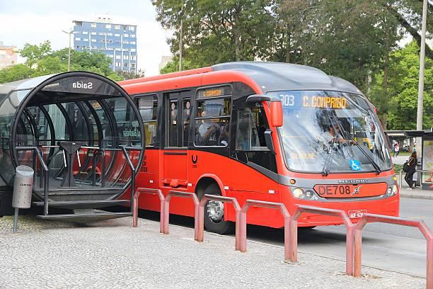 curitiba bus - curitiba stock photos and pictures