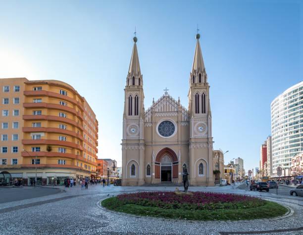 curitiba cathedral - curitiba, parana, brazil - curitiba stock photos and pictures