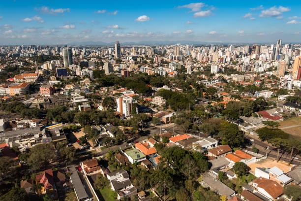 curitiba city skyline - curitiba stock photos and pictures