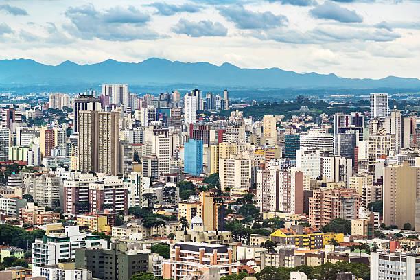 curitiba cityscape, parana state, brazil - curitiba stock photos and pictures