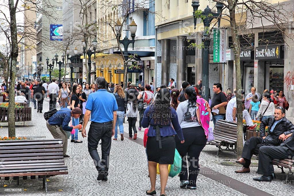Curitiba shopping stock photo