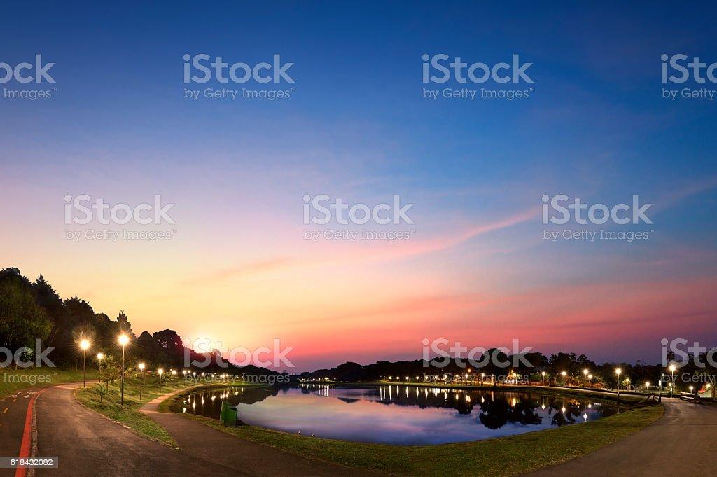 Curitiba urban park landscape stock photo