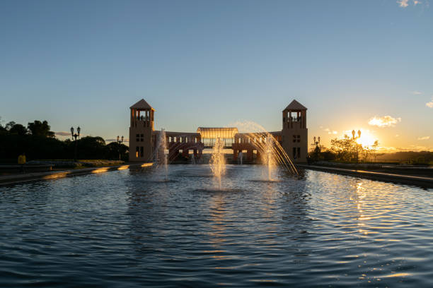 curitiba/parana/brazil - may 25 2019: sunset in the tangua park, curitiba. - curitiba stock photos and pictures